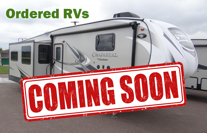 RVs Ordered & Coming in Soon!