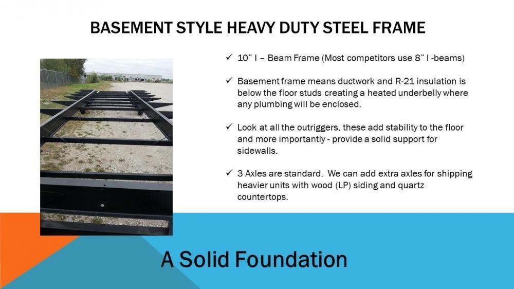 A Solid Foundation BASEMENT STYLE HEAVY DUTY STEEL FRAME